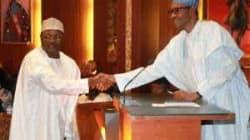 Buhari swears in INEC Chairman, Yakubu, for another 5-year term