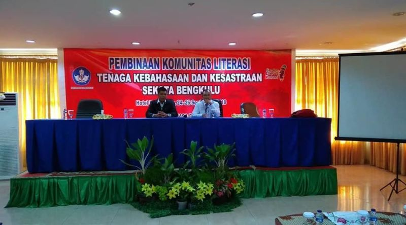Pembinaan Komunitas Literasi Tenaga Kebahasaan dan Kesastraan Se-Kota Bengkulu