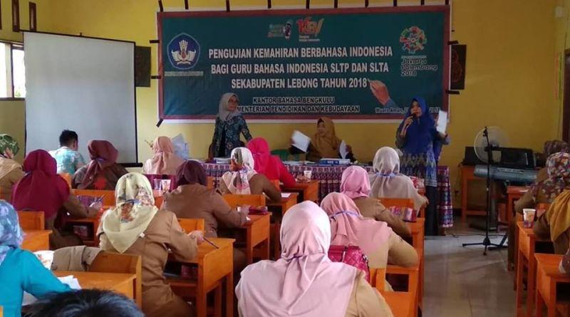 Pengujian Kemahiran Berbahasa Indonesia bagi Guru Bahasa Indonesia SLTP dan SLTA Se-Kabupaten Lebong