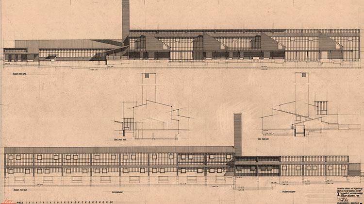 Hanssted Skole, opstalt facade
