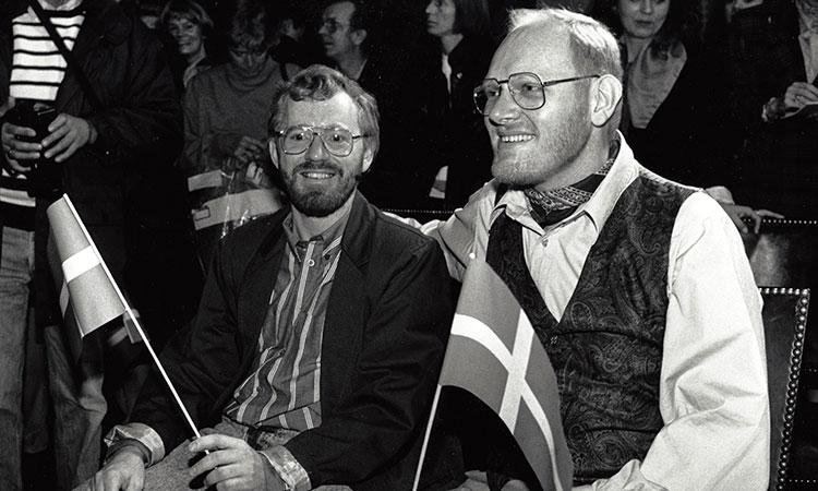 Regnbuebryllup på Københavns Rådhus 1989