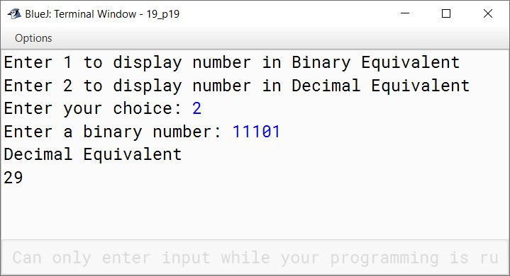 BlueJ output of KboatBinary.java