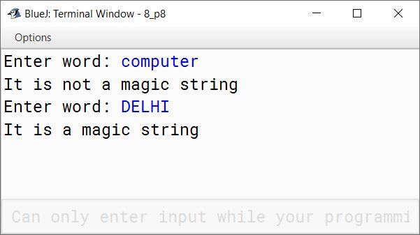 BlueJ output of KboatMagicString.java