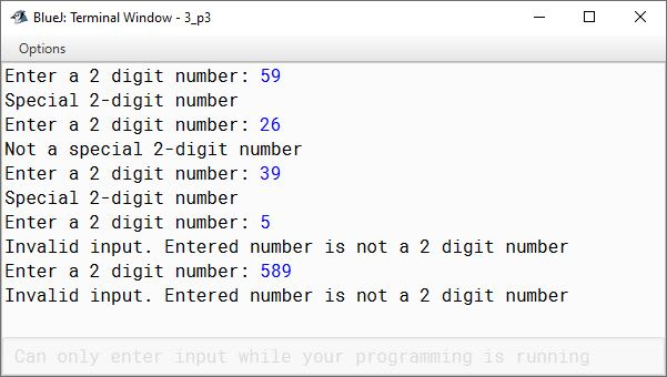 BlueJ output of KboatSpecialNumber.java