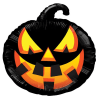 Black Pumpkin Balloon 18 Inch