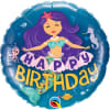 Happy Birthday Mermaid Balloon - 18inch Foil