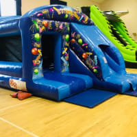 Party Theme Bouncy Castle With Slide