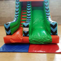 Large 8ft Freefall Orange/green Slide With Rain Cover