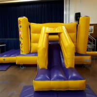 Purple And Yellow Castle With Slide Low Height 7ft
