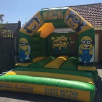 Minion Bouncy Castle In Canary Colours