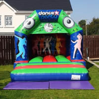 Brand New Disco Bouncy Castle Glossy