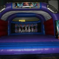 15ft X 15ft Rodeo Bull(4 Hours) & 20ft X 20ft Disco Castle & 8ft X 8ft Mats Adult Sumo Suits