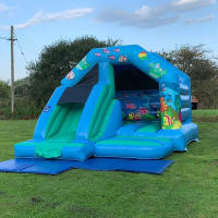 Sea Theme Castle/slide 12ft X 15ft