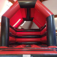 Adult Red And Black Bouncy Castle