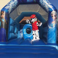 Ice Princess Bouncy Castle With Slide & Bish Bash