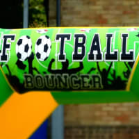 11ft X 15ft Football Themed Bouncy Castle - Green