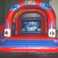 15ft X 15ft Rodeo Bull(3 Hours) & 50ft Jungle Book Assault Course & 15ft X 21ft Disney Theme Slide &10ft X 9ft  Ball Pond