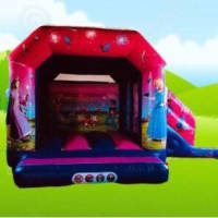 Princess Open Bouncy Castle With Slide