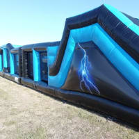 60ft Adult Assault Course Lightning