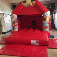 Red Hero Bouncy Castle Package