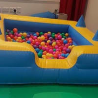 Inflatable Ball Pit Yellow & Blue