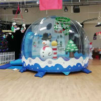 Christmas Inflatable Snow Globe Bouncy Castle