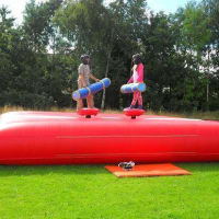 22ft X 18ftx 18ftjungle Book Slide &35f Tx 11ft Bungee Run & 20ft X20ft Gladiator Duel & 40ft Army Assault Course