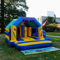 Combi Castle With Side Slide