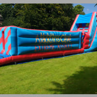 48ft Extreme Inflatable Assault Course With 8ft Platform Slide