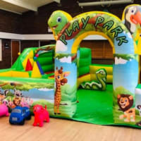 18ft X 18 Ft Play Park With Slide Ball Pool And Castle