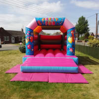 Pink Party Time Bouncy Castle