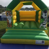 11ft X 15ft Jungle Bouncy Castle - Green
