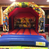 Super Heroes Disco Bouncy Castle
