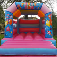 Pink Party Time Bouncy Castle Hire