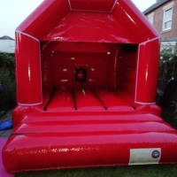 Red Disco Bouncy Castle