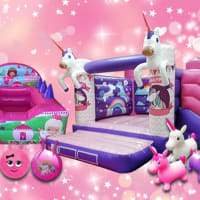 Unicorn Bouncy Castle With Slide Package