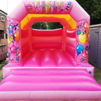 Pink Party Castle 12ftby15ft