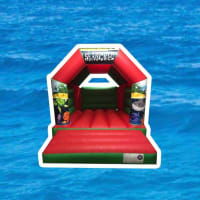 11ft X 15ft Seaworld Themed Bouncy Castle - Red
