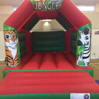 11ft X 15ft Jungle Bouncy Castle - Red