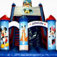24ft X28ft X15ft Disney Megga Slide & 40ft Assault Course & Rodeo Bull(4 Hours) & 15ft X 21ft Disney Theme Slide Castle