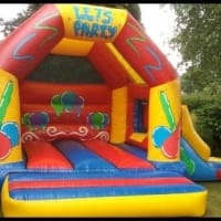 Lets Party Bouncy Castle With Slide Combo