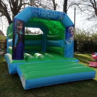 Green And Blue Frozen Bouncy Castle