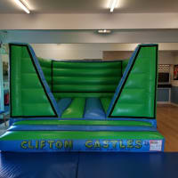 V Front Green And Blue Indoor Bouncy Castle