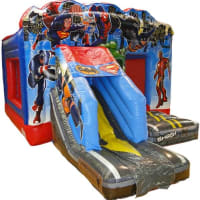 Superhero Bouncy Castle With Slide