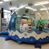 Christmas Inflatable Snow Globe Bouncy Castle Hire