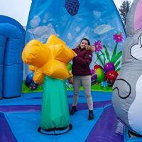 Easter Globe Bouncy Castle