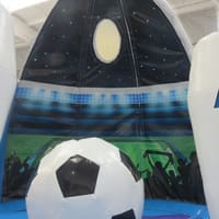 Giant Football Bouncy Castle Globe