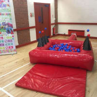 Red Gloss Air Juggler Ball Pool