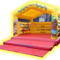 Large Bear Themed Bouncy Castle