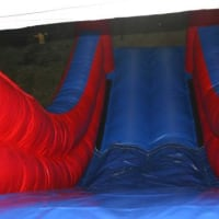 24ftlong X 28ft High X 15ft Wide Disney Megga Slide Red And Blue